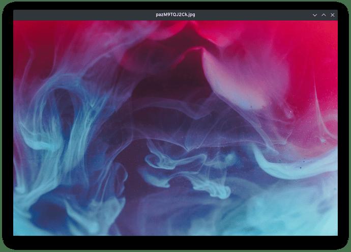 Στιγμιότυπο του qView με φορτωμένη εικόνα