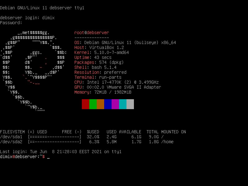 VirtualBox_Debian Testing Server_08_06_2021_21_32_08